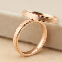 Womens Casual 14K Rose Gold Ring Love Rings Gift-131