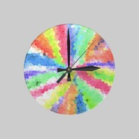 Groovilicious Round Clocks from Zazzle.com