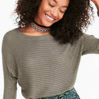 Silence + Noise Hiro Ribbed Dolman Shirt - Urban Outfitters