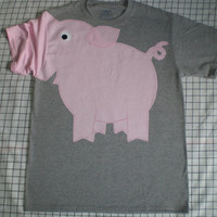 PIG SNOUT sleeve t-shirt Unisex SMALL
