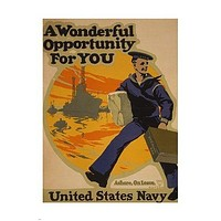 a WONDERFUL opportunity for YOU vintage recruit poster US NAVY 24X36 hot new