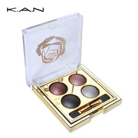 New Brand 4 colors Luxurious Gold Baking Nude eyeshadow palette makeup matte Eye Shadow palette Make Up urban Glitter eyeshadow