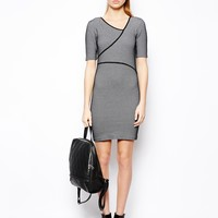ASOS Body-Conscious Dress In Texture With Cut Out - Black