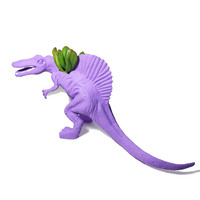 Up-cycled Large Sized Light Purple Spinosaurus Dinosaur Planter