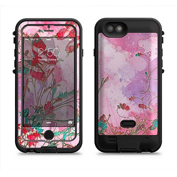 The Pink Bright Watercolor Floral  iPhone 6/6s Plus LifeProof Fre POWER Case Skin Kit