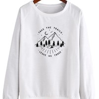 Take The Trails Leave No Trace V1 - Crew Sweatshirt (Pre-Order)