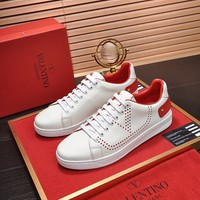 Valentino Men's Leather BACKNET Sneakers Shoes
