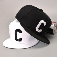 Trendy Winter Jacket [TIMESWOOD] Embroidery C Snapbacks Hats Letter Baseball Caps Black White Hip Hop Brim Straight Hat Color Summer Mens Womense AT_92_12