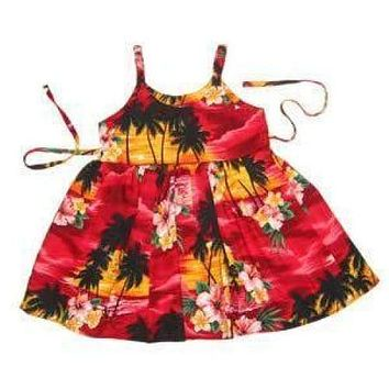 sunburst hawaiian girl sundress