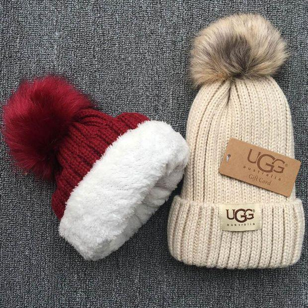 Image of UGG Knit And Pom Hat Cap