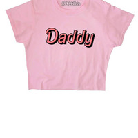 Daddy ∘ Kawaii ∘ Crybaby ∘ Baby Girl ∘ Grunge ∘ Crop Top ∘ Baby Pink Blue ∘ Womens Ladies ∘ S M L XL 2XL