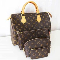 LV Women Shopping Leather Multicolor Tote Handbag Shoulder Bag Variety Style