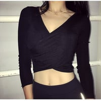Sports Tops Yoga Long Sleeve Crop Top T-shirts [10392689478]
