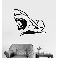 Wall Stickers Vinyl Decal Shark Jaws Predator Ocean Decor Murals Unique Gift (ig214)