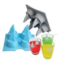 Vktech Bar Summer Funny Ice Tray Ice Cube Cool Shark Fin Shape Freeze Ice Mould Maker