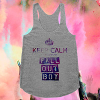 Keep Calm Fall Out Boy Gray tanktop for men and women