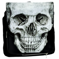 Anatomical Death Skull Backpack School Bag Vintage Shape Satchel