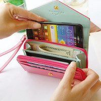 Multi function Women Wristlet Wallet