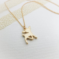 Gold Deer Necklace Gold necklace Dainty necklace Cute necklace Animal necklace Gift mom Birthday Gift best friend Birthday Gift sister