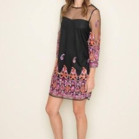 Dainty Details Embroidered Shift Dress