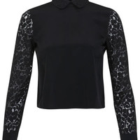 Petites Black Lace Shirt - Apparel - New In