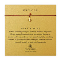 explore compass tobacco silk necklace, gold dipped - Dogeared