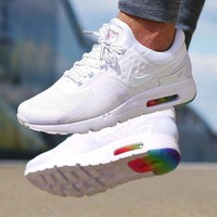 NIKE Air Max Rainbow Sole White Fashion Men Running Sport Casual Cushion Shoes Sneakers G-AA-SDDSL-KHZHXMKH