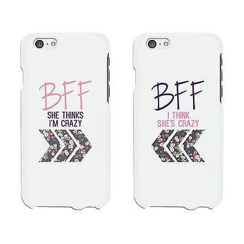 BFF Floral Arrow Cute BFF Matching Phone Cases For Best Friends Gift