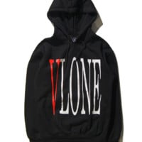 VLONE Fashion Print Hoodie Top Sweater