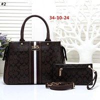 COACH Tide brand letter printing female Tote bag handbag shoulder bag mother bag two-piece #2