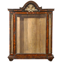 Tortoised Curio Cabinet with Glass