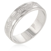 Classic Etched Wedding Band