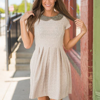 Proper Introduction Dress, Gray