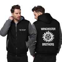 Unisex Thicken Hoodie Supernatural Jacket