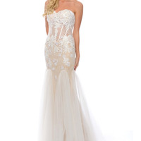 Precious Formals C70178 Lace Mermaid Prom Pageant Dress