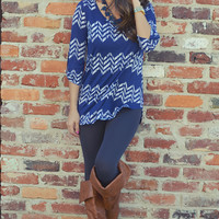 Too Blessed To Stress Top: Navy Blue | Hope's