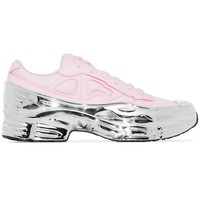 Light Pink and Silver Metallic Ozweego by RAF SIMONS