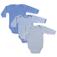 Luvable Friends Long Sleeve Thermal Bodysuit 3-Pack | Affordable Infant Clothing