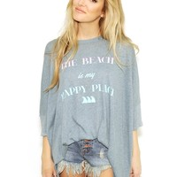 Wildfox SUNNY MORNING T MY HAPPY PLACE in Dahlia | Boutique To You
