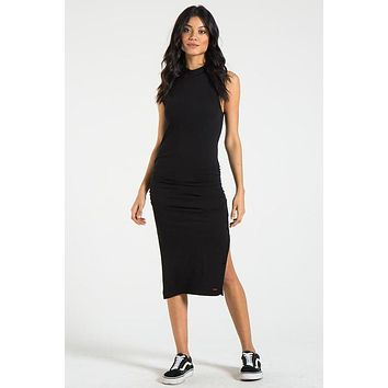 Bellflower Sleeveless Midi Dress - Black Cat