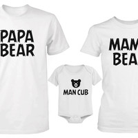 Daddy Mommy and Baby Matching Bear Family T-Shirt / Onesuit (Sold Separately)