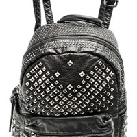 Backpack decorated with studs   Bags   Bags + Wallets   Accessories   Queen Of Darkness