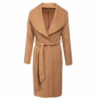 Long Sleeve Wool Coat