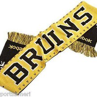 Boston Bruins Reebok Face Off Two Sided Scarf