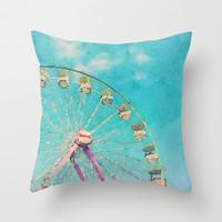 Day at the Fair Throw Pillow by Brandy Coleman Ford