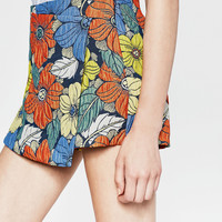FLORAL CULOTTES - SHORTS-TRF | ZARA United Kingdom