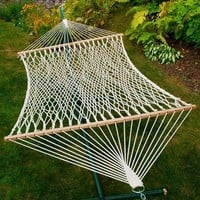 Double Cotton Rope Patio Hammock - White - Algoma