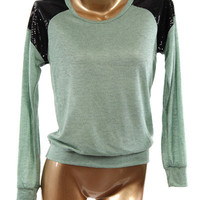 Micro Sequins Pullover - Mint
