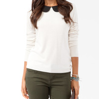 Collared Knit Sweater   FOREVER21 - 2025101480