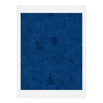 Camilla Foss Circles In Blue I Art Print